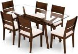 Urban Ladder Wesley Cabalo Solid Wood 6 Seater Dining Set