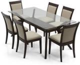 Urban Ladder Wesley Dalla Solid Wood 6 Seater Dining Set