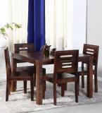 Woodsworth Alicante Four Seater Dining Set In Provincial Teak Finish