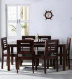 Woodsworth Alicante Six Seater Dining Set In Provincial Teak Finish