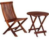 Woodsworth Asilo Chair And Table Set In Provincial Teak Finish