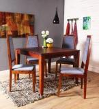 Woodsworth Brianna Four Seater Dining Set In Provincial Teak Finish