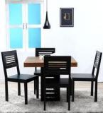 Woodsworth Clio Four Seater Dining Set In Dual Tone Finish