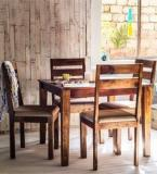 Woodsworth Dallas Four Seater Dining Set In Provincial Teak Finish