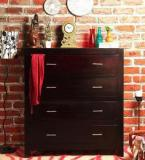 Woodsworth Edmonds Chest Of Four Drawers In Passion Mahogany Finish