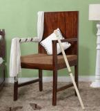 Woodsworth Elkhorn Arm Chair In Provincial Teak Finish