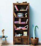 Woodsworth Freemont Book Shelf With Two Drawers In Provincial Teak Finish