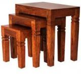 Woodsworth Homerton Set Of Tables In Natural Mango Wood Finish
