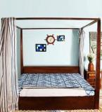 Woodsworth Ilwaco King Size Poster Bed With Storage In Provincial Teak Finish
