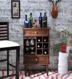 Woodsworth Jacare Bar Unit In Provincial Teak Finish