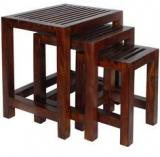 Woodsworth Leon Set Of Tables In Provincial Teak Finish