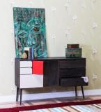 Woodsworth Longview Sideboard In Olive Grey Finish