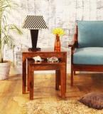 Woodsworth Madison Solid Wood Set Of Tables In Provincial Teak Finish