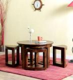 Woodsworth Nico Coffee Table Set In Provincial Teak Finish