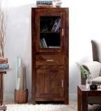 Woodsworth Nico Hutch Cabinet In Provincial Teak Finish