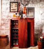 Woodsworth Oakland Branco Bar Cabinet In Honey Oak Finish