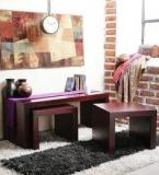 Woodsworth Olney Coffee Table Set In Passion Mahogany Finish