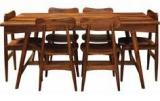 Woodsworth Paloma Solid Wood Six Seater Dining Set In Provincial Teak Finish