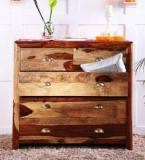 Woodsworth Polson Chest Of Five Drawers In Natural Sheesham Wood Finish