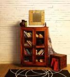 Woodsworth Quito Varnished Low Book Case In Honey Oak Finish