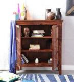 Woodsworth Raliegh Solid Wood Book Case In Honey Oak Finish