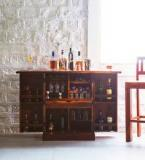 Woodsworth Reno Bar Cabinet In Honey Oak Maple Finish