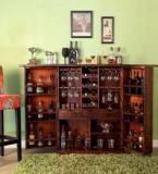Woodsworth Reno Bar Cabinet In Provincial Teak Finish