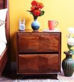 Woodsworth Reno Bed Side Table In Provincial Teak Finish