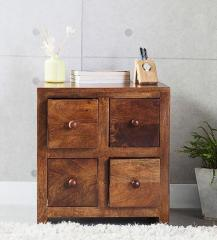 Woodsworth Richmond Solid Wood Bedside Table In Provincial Teak Finish