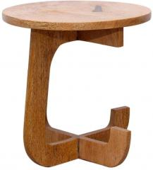 Woodsworth Round Solid Wood End Table Price In India