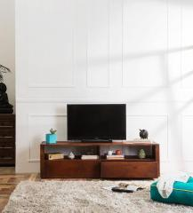 Woodsworth Savannah Solid Wood Entertainment Unit in Honey Oak Finish