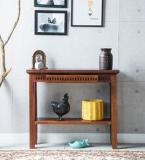 Woodsworth Tacoma Solid Wood Console Table In Honey Oak Finish