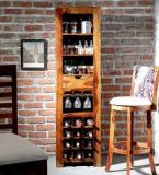 Woodsworth Tulsa Bar Unit In Provincial Teak Finish