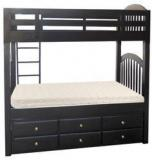 Woodsworth Werner Solid Wood Bunk Bed With Storage In Espresso Walnut Finish