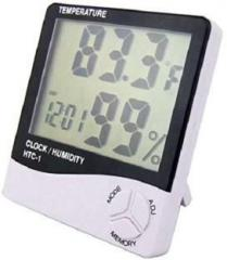 Htc I Htc 1 Digital Thermo/Hygrometer Humidity Tester with Clock large 2 line LCD display Thermometer