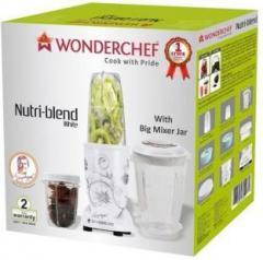 3ad5298fa37 Wonderchef Nutri Blend 400 Watt Mixer Grinder with 3 Jars White 400 Juicer  Mixer Grinder price in India May 2019 Specs