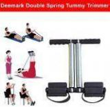 Deemark Double Spring Tummy Trimmer Black Gym Accessories/ Essentials for toning and fat loss