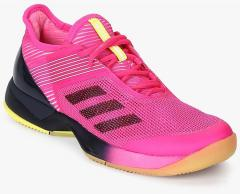 f4c46eece Adidas Adizero Ubersonic 3 Pink Tennis Shoes for women - Get stylish shoes  for Every Women Online in India 2019 | PriceHunt