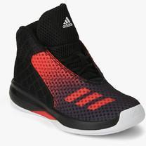 hot sale online b48a4 30019 Adidas Court Fury 2016 Black Basketball Shoes for Boys in India April, 2019   PriceHunt