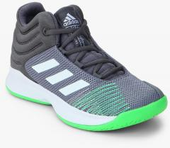 241a9e2d498fc Adidas Pro Spark 2018 Grey Basketball Shoes for girls in India - Buy at  Lowest price May