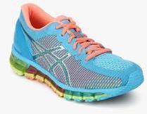 huge selection of 8b818 890d8 Asics Gel Quantum 360 Cm Blue Running Shoes women