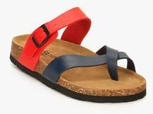 234d7425e2320 Carlton London Red Buckled Slippers for Men online in India at Best ...