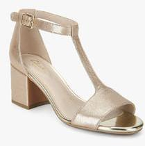 e5c9543bf022 Clarks Barley Belle Golden Metallic Ankle Strap Sandals for women - Get  stylish shoes for Every Women Online in India 2019