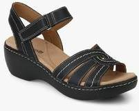52ed127b63934b Clarks Delana Varro Black Sandals for women - Get stylish shoes for Every  Women Online in India 2019