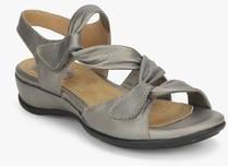 d67fe8e1c9b7 Clarks Meza Lucena Grey Sandals for women - Get stylish shoes for ...