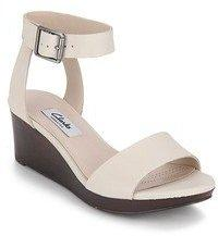Clarks Ornate Jewel Cream Sandals For Women Get Stylish