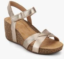 2265e03f2d Clarks Temira Compass Golden Wedges for women - Get stylish shoes ...