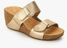 5c6d7468580b0 Clarks Temira East Golden Wedges for women - Get stylish shoes for ...