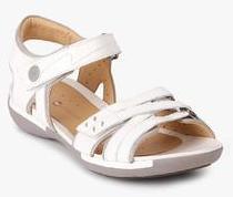 b917abc27874 Clarks Un Vasha White Sandals for women - Get stylish shoes for ...