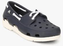 36b78d280 Crocs Beach Line Boat Shoe Lace Gs Navy Blue Loafers for Boys in ...
